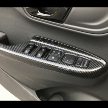 For Hyundai Kona Encino 2018 2019 ABS Carbon fibre LHD Car Window glass Lift Door Panel Cover trim Styling accessories 4PCS