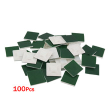 Mylb-Self-Perekat Plastik Kawat Bundel Pemegang 3 Mm Kabel Tie Mount BASE 100Pcs(China)