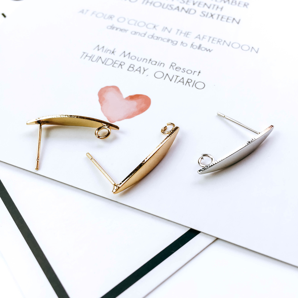 Earrings Pins Hook Block Ear Clip Stud Component Handmade Supplies for Jewelry Making Finding Accessories Material 6pcs