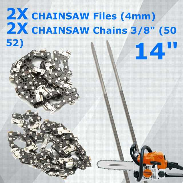 New durable 4pcs chainsaw files 50 52 chains for 14 mcculloch 335 new durable 4pcs chainsaw files 50 52 chains for 14 mcculloch 335 338 435 greentooth Choice Image