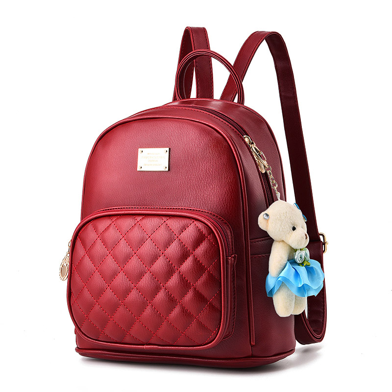 Women Brand Backpack Bag 2017 Fashion Fresh PU Shoulder Bag New Top Quality 7 Color Bear