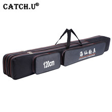 Portable 2-3 Layer Fishing Bags Folding Fishing Rod Bag Case Fishing Tackle Tools Storage Bag