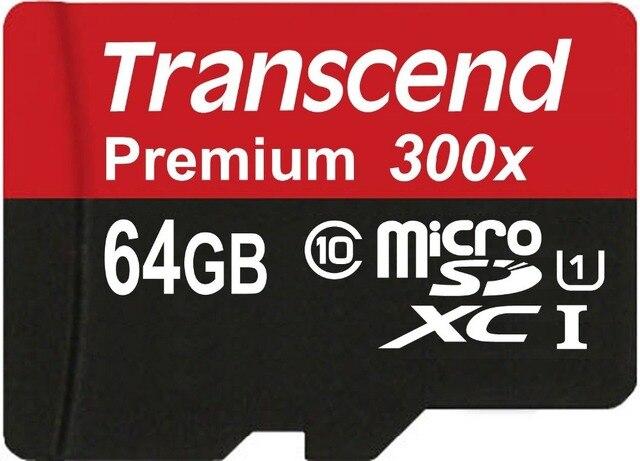 HOT! Sealed Real Transcend 16GB 32GB 64GB MicroSD MicroSDHC MicroSDXC Micro SD SDHC SDXC Card class 10 UHS-1 TF Memory Card