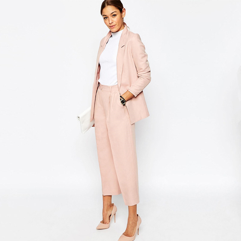 Blazer Pants Suits For Work Wear Womens Pant Suits For Weddings Office Ladies Uniform Designs Woman Office Suit Top and Pant Set thumbnail