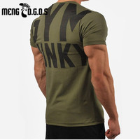 Mens 2017 Summer New Gyms Cotton T Shirt Fitness Bodybuilding Shirts Short Sleeve Male Fashion Casual