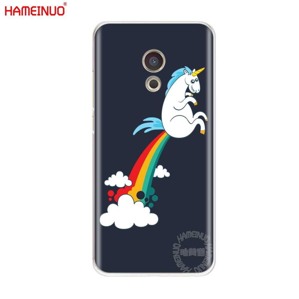HAMEINUO jednorożec Rainbow Jetpack pokrywa etui na telefon do Meizu M6 M5 M5S M2 M3 M3S MX4 MX5 MX6 PRO 6 5 U10 U20 note plus