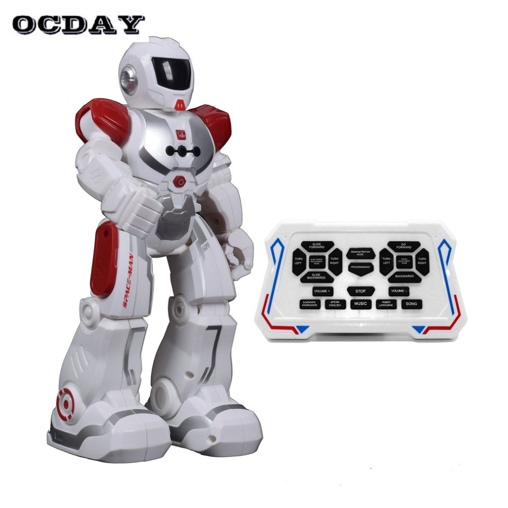 цена на Kids Electric Action Dance Robot Toy electronic Soldier Smart Space Walking Astronaut Robot Remote Control Toy for Children Gift