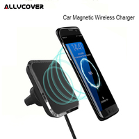 Allvcover Car Magnetic QI Wireless Charger For Samsung Samsung S7 S8 Note8 Car Air Vent Phone