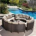 Sigma Furniture10-Piece Patio Al Aire Libre De Mimbre Sofá Seccional Set