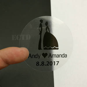 Stationery Sticker Clear Wedding-Invitation Personalised Transparent Customize Envelope-Seals