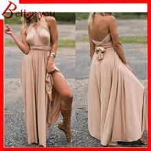 Summer dress 2019 Multi wear multi string cross backless sexy bandage dress black red blue pink long party maxi dress