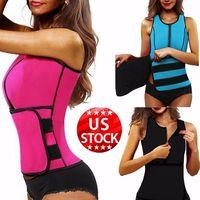 Neoprene Sauna Waist Trainer Vest Hot Shaper Summer Workout Shaperwear Slimming Adjustable Sweat Belt Fajas Body