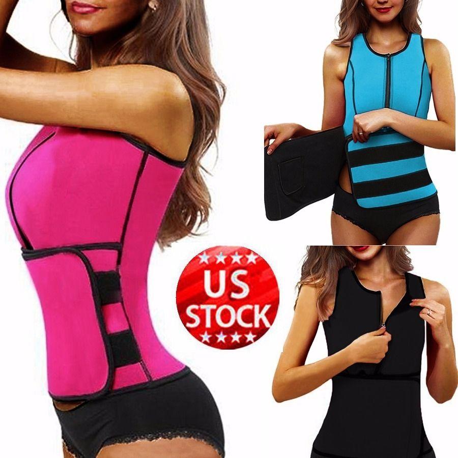 Neoprene Sauna Waist Trainer Vest <font><b>Hot</b></font> <font><b>Shaper</b></font> Summer Workout Shaperwear Slimming Adjustable Sweat Belt Fajas Body <font><b>Shaper</b></font> *USPS*