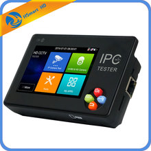 New 3.5 inch touch screen IP CCTV tester monitor ip camera ahd hd h.265 analog camera testing 1080P ONVIF PTZ wifi 12V1A output