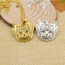 LPHZQH fashion metal Boho Chi Yorkshire Terrier dog pendant necklace for Women choker necklace Collares Jewelry charm gift punk