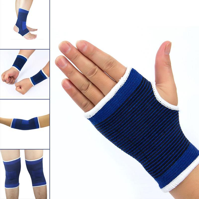 1Pair Elastic Knee Pads Ankle Wrist Brace Leg Arthritis Injury Protector Sleeve Elasticated Bandage Support Brace Resilience U4