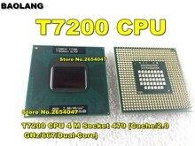 Livre ShippingCPU ordinateur portátil Core 2 Duo T7200 CPU 4 M Socket 479 (Cache/2.0 GHz/667/Dual-Core) Ordinateur Portabl