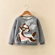 Godier Baby Winter Thick Sweatshirts Boys Girls Hoodies Clothes Christmas Toddler Casual Sweater Kids Velvet Cotton Tops Costume