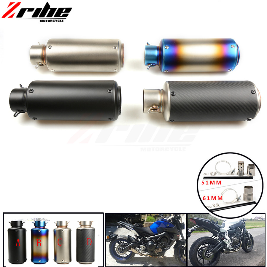 For 36-51 / 61mm Motorcycle Exhaust Pipe Scooter Modified Muffler Pipe Universal for Aprilia CAPANORD 1200 TUONO/R RSV MILLE/R F