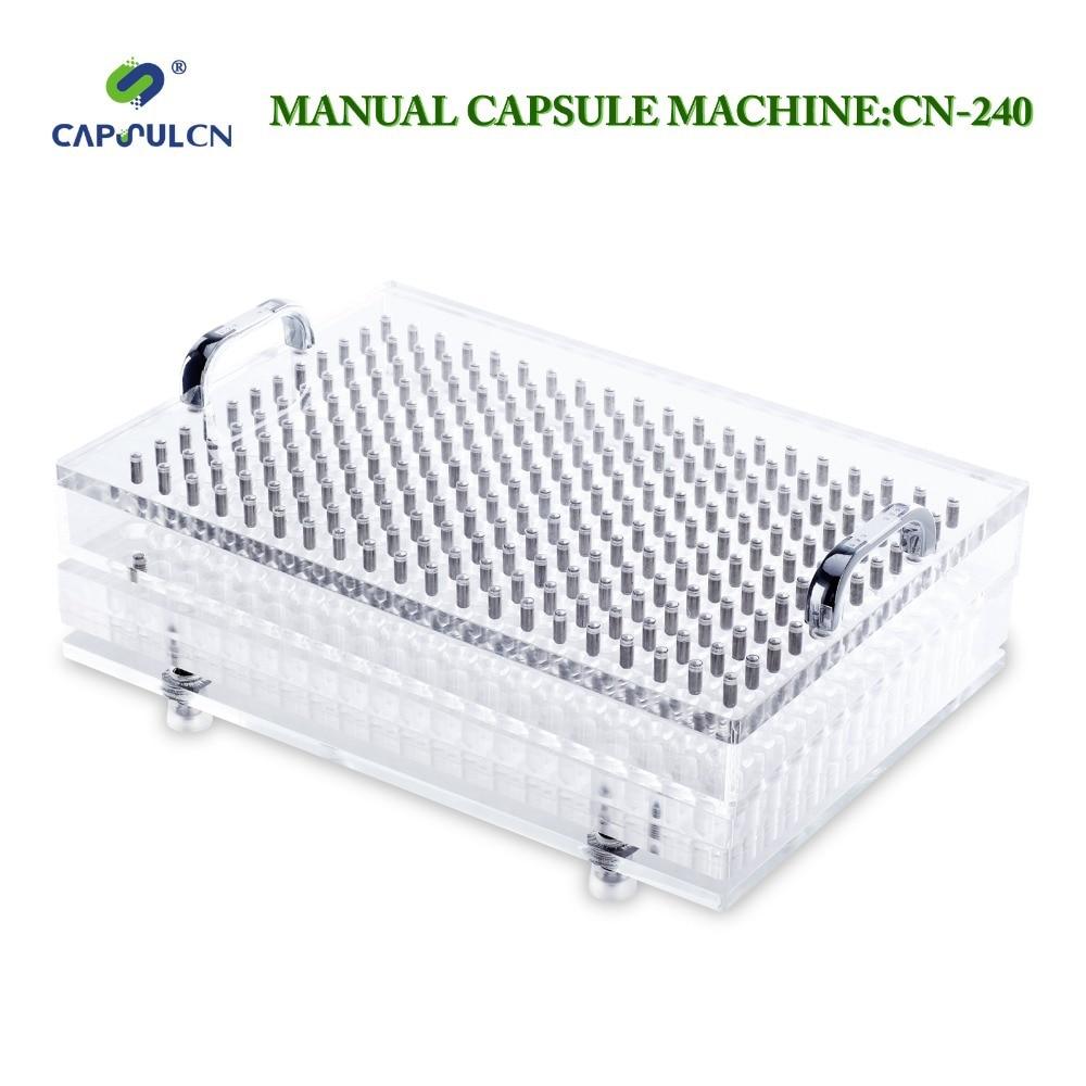 CapsulCN, CN-240 Hole/Size 00 Manual capsule filler/Capsule Filling Machine/Encapsulation capsulcn size 1 manual capsule filler cn 400cl capsule filling machine encapsulation machine easy cleaning type