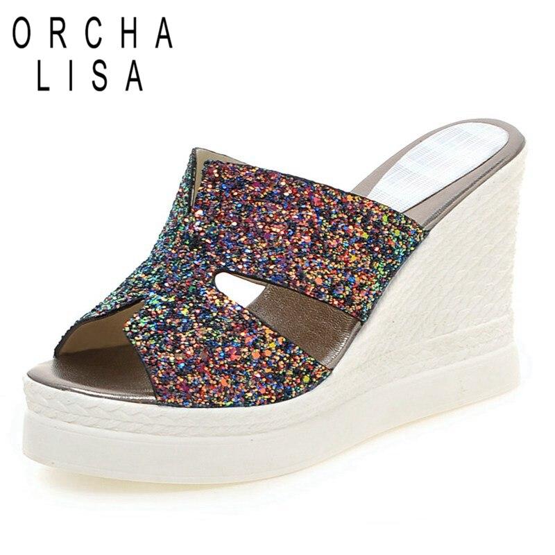 fc9f8b4f1c04 Buy rainbow glitter heels and get free shipping on AliExpress.com