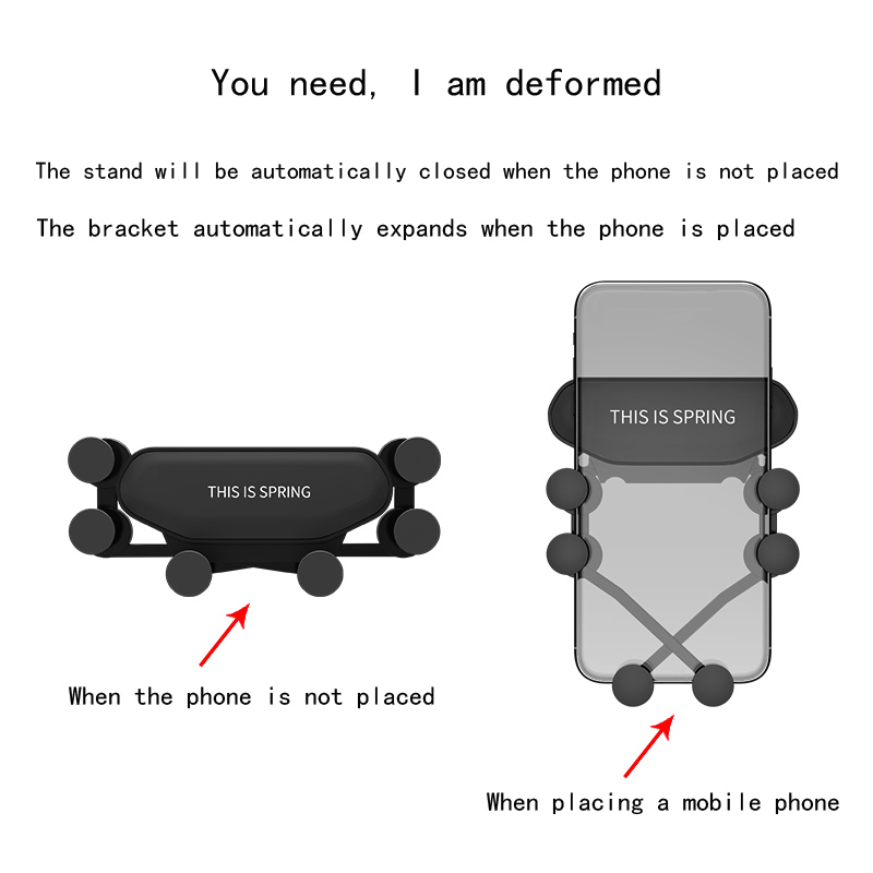 Image 5 - Car Phone Holder For Phone In Car Air Vent Mount Navigation Stand  Mobile Phone Holder Universal Gravity Smartphone Cell Support-in Universal Car Bracket from Automobiles & Motorcycles