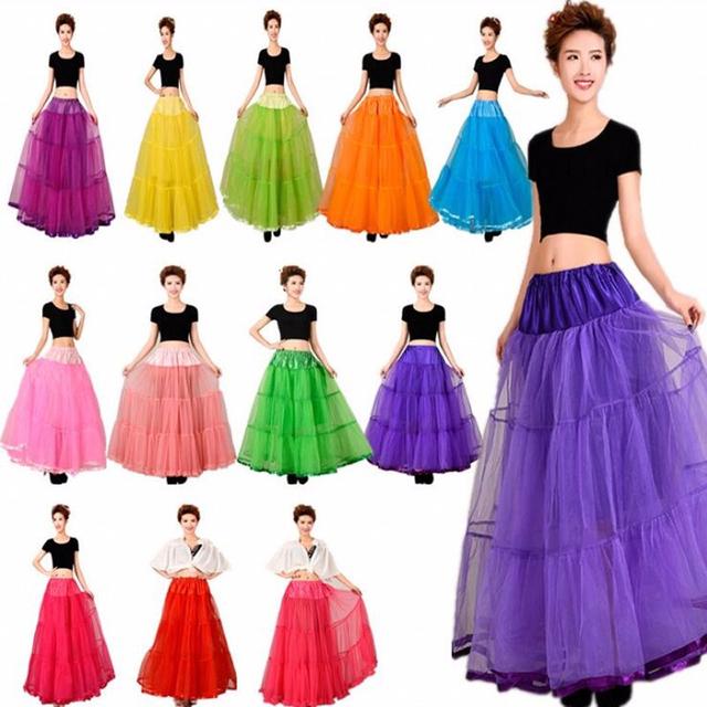 Organza livre Halloween Anágua Crinolina Petticoat Nupcial para o Casamento de Casamento Multi Cor Vestidos Underskirt Rockabilly Tutu