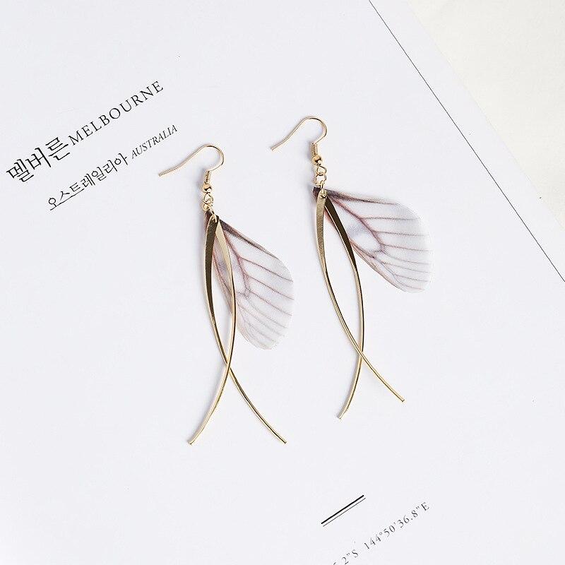 Handmade Gray cristal d/'oreille Drop Dangle Stud Antique Silver Long Boucles D/'oreilles