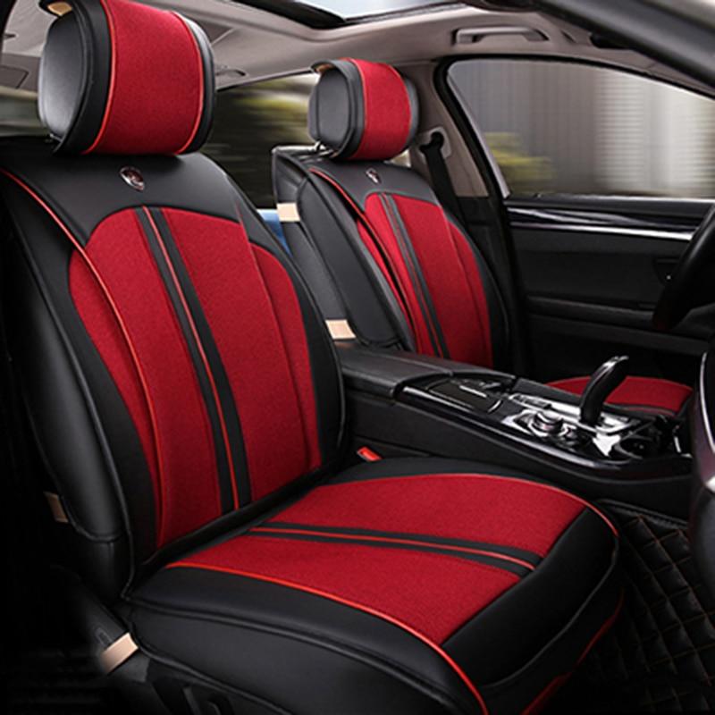 Fundas de asiento de coche de cuero universales para Volkswagen vw - Accesorios de interior de coche - foto 6