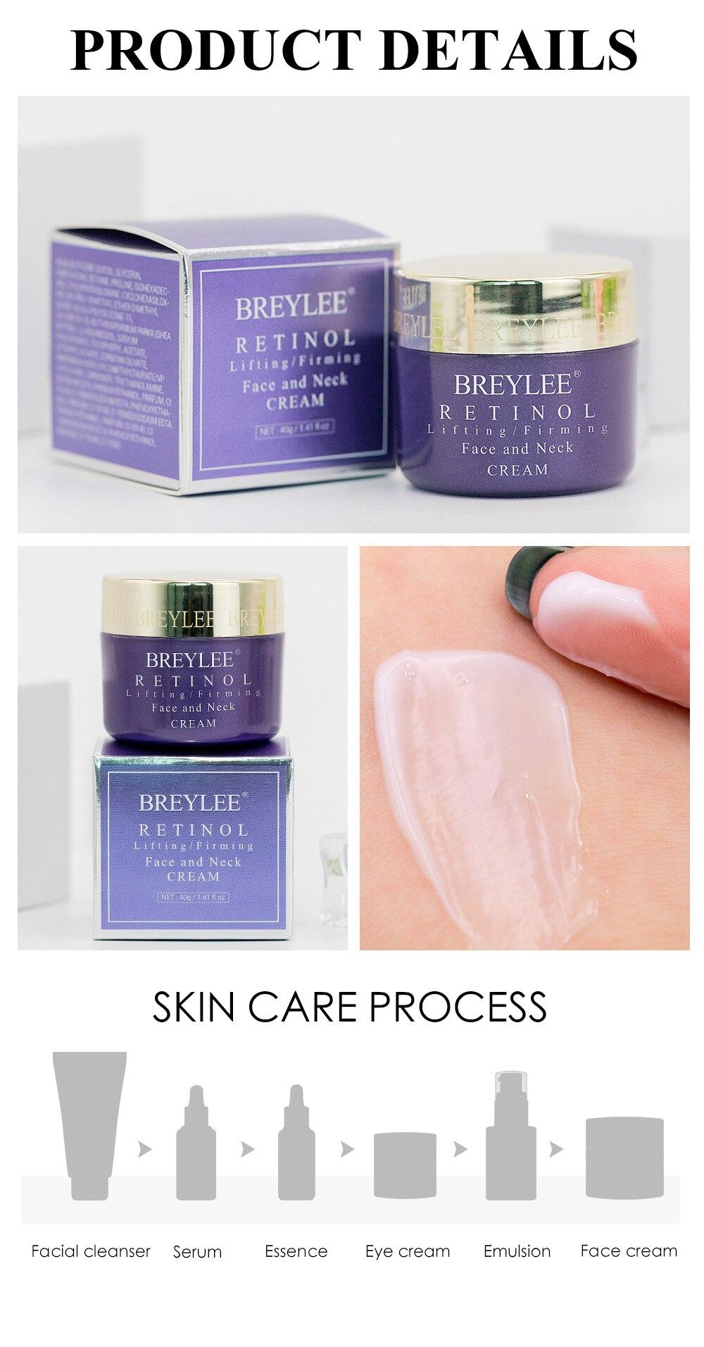 BREYLEE Retinol LiftingFirming Face And Neck Cream Anti-aging Anti-Eye Bag anti wrinkle Eye Cream Age Revolution Ageless Young 7