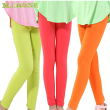 New Fashion Solid Candy Color Baby Girls Leggings Spring Autumn Cotton Girl Trousers Elastic Pantalon For 2-13Y Children Clothes