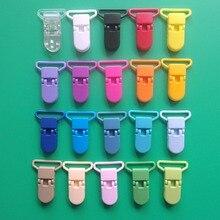 DHL Free Shipping 1000pcs Mix 20 Colors Hot D shape Kam Plastic Pacifier Clip For 25mm Ribbon Clip Dummy Clip Suspender Clip