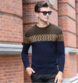 2017 Winter Sweater Men O-neck Casual Knit Jumpers Sweaters Mens Long Sleeve Pullovers Famous Brand Sweater Logo Men Stylish