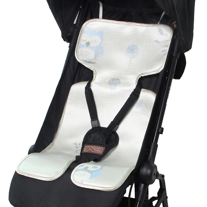 1 PC Passeggino Zerbino Per Bambini Universale Trolley Ombrello Zerbino Carbone Di Legna di Bambù di Seta del Ghiaccio Fresco Zerbino