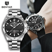 купить BENYAR Men's Watches Top Brand Luxury Men's Watch Waterproof Date WristWatches Quartz Watch Business Male Watches reloj hombre дешево