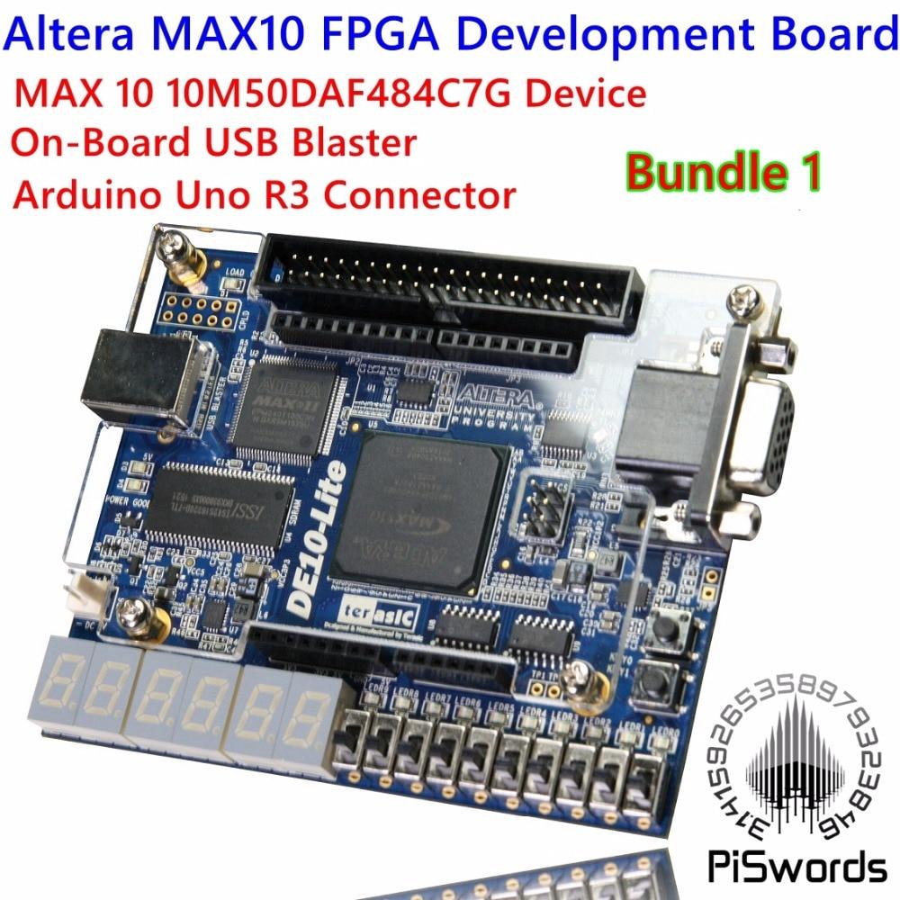 Altera MAX 10 Placa de desarrollo FPGA, Logic IC 10M50DAF484C7G, herramientas de desarrollo de DE10-LITE MAX10 con conector Arduino Uno R3