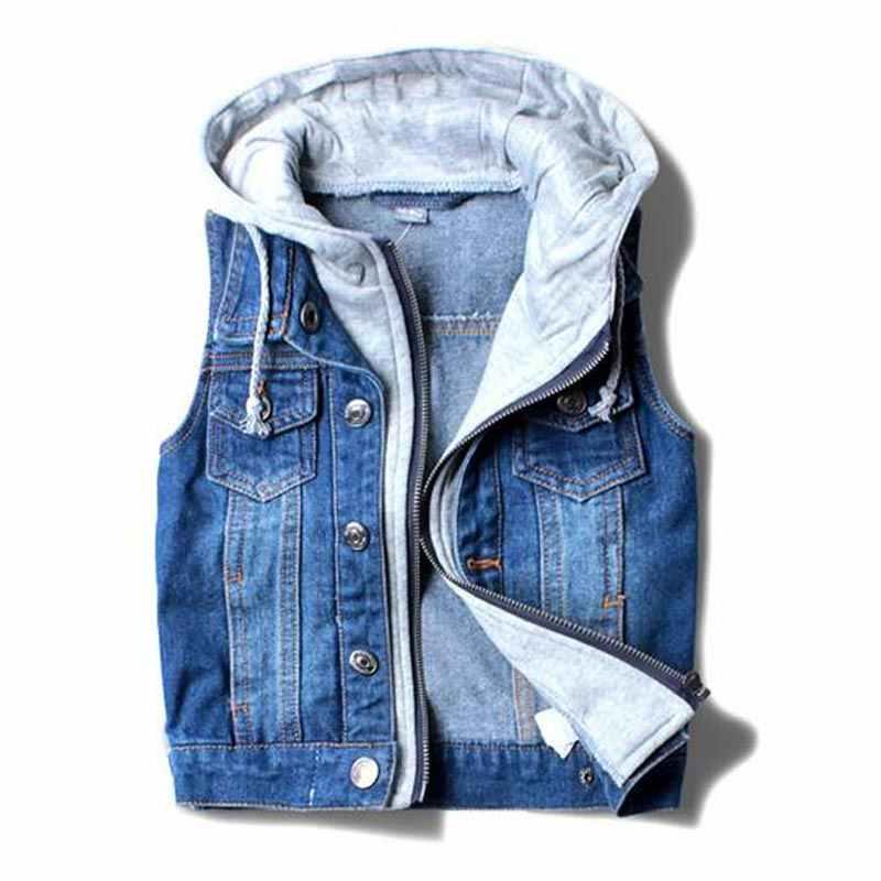 เด็ก outerwear ฤดูใบไม้ผลิฤดูใบไม้ร่วงเสื้อผ้าเด็กเสื้อผ้าเด็กเสื้อคาวบอยเสื้อกั๊ก DENIM แจ็คเก็ต