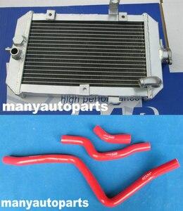 Aluminum Radiator + Red Silicone Hose for Yamaha 660R Raptor 660 YFM660R 2002-2005 2002 2003 2004 2005
