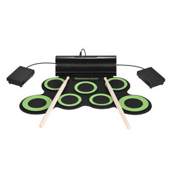 Portable Electric Drum Digital Mono Electronic Drum Set 7 Silicon Pads Built-in Speaker USB Powered with Drumsticks Foot Pedals - DISCOUNT ITEM  43% OFF Sports & Entertainment