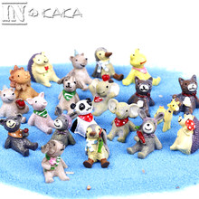 Zakka 20 Styles Micro Garden Home Decoration Resin Cartoon Animal Ornament Garden Puppy Cat Dog Figure Toy Model DIY Figuriness(China)
