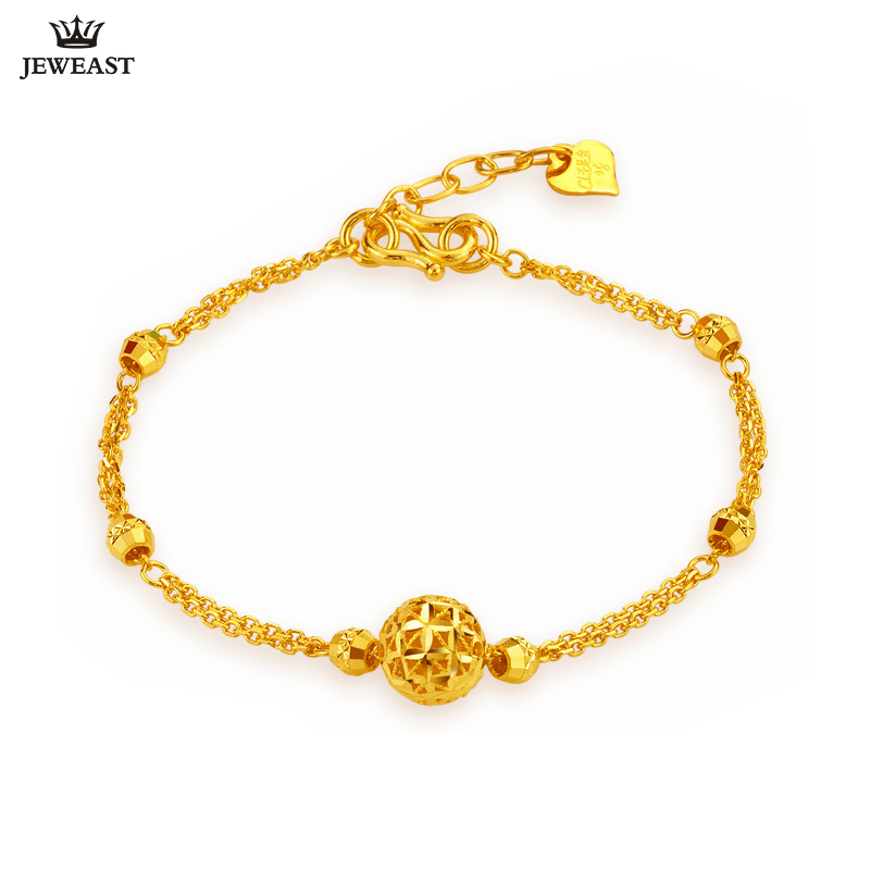 24K Pure Gold Bracelet Real 999 Solid Gold Bangle Simple Upscale Beautiful Hollow Ball Trendy Classic Jewelry Hot Sell New 201824K Pure Gold Bracelet Real 999 Solid Gold Bangle Simple Upscale Beautiful Hollow Ball Trendy Classic Jewelry Hot Sell New 2018
