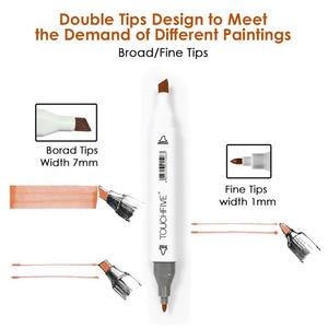 Image 2 - TOUCHFIVE ผิวชุดปากกา MARKER 24/30/36 สี Professional DUAL TIP แอลกอฮอล์ Sketch Markers อุปกรณ์ศิลปะ 3 ของขวัญ