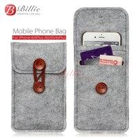 Phone bag Cho iPhone 6 s 7 Cộng Với 5.5 inch case Cho iPhone 6 7 4.7 inch túi điện thoại di động túi trường hợp Trường Hợp Bìa Len Cảm Thấy Ví