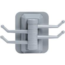 Кухонный поворотный 4-крюк Кухня настенная стойка для ванной вешалка для полотенец без винта и Не оставляющий следов крючки для ванной, головных уборов, поворотный челнок, Лидер продаж