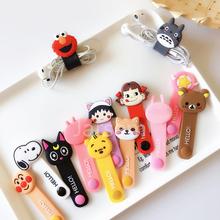Cartoon Cable Protector Data Line Cord Protective Case Winder Cover For iPhone USB Charging xr