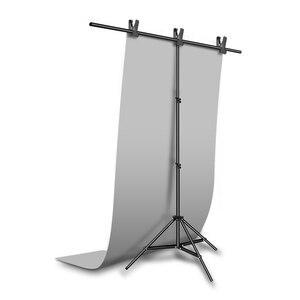 "Image 2 - אפור 68X130 ס""מ 27*51 inch רקע צילום מט נייר PVC ויניל רקע חלק חלקה מים הוכחת"