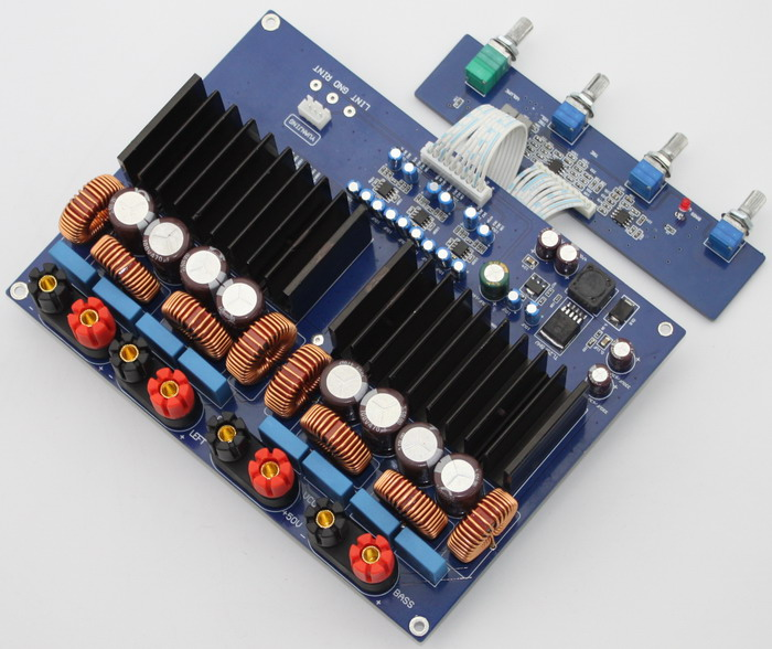 TAS5630 (1200W) 2.1 high-power digital amplifier board/home aduio amplifier yj tas5630 2 1 high power digital power amplifier board 1200w class d amplifier board 600w 600w free shipping