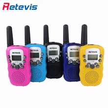 2pcs Children Mini Walkie Talkie Kids Radio Retevis RT388 0.5W PMR VOX LCD Display Flashlight 2 Way Radio Portable Amateur Radio
