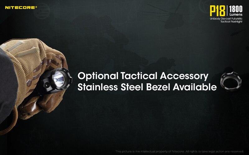 1800 Lumens Nitecore P18 Tactical Flashlight (17)