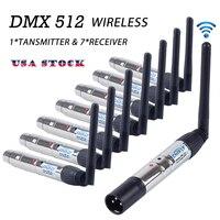 DMX512 Беспроводной приемник передатчик DMX огни контроллер 2,4 г Связь расстояние 400 м вечерние Этап освещения Эффект нам пятно